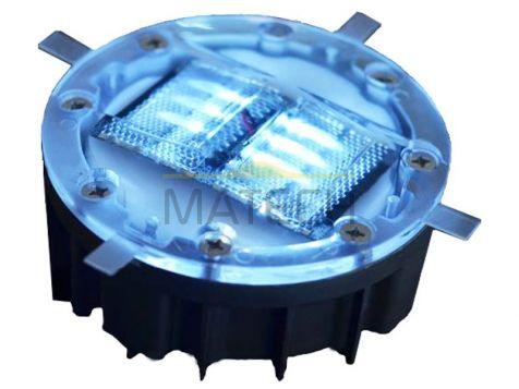 Aktywne solarne elementy odblaskowe LED - dwustronne biały/biały