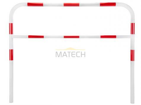 Barierka wygrodzeniowa  u-12a typ1 - biało-czerwona odblask