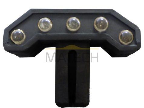 Element odblaskowy gumowego separatora drogowego