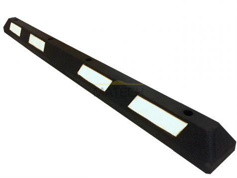 Separator parkingowy gumowy - 182 cm czarny biały odblask