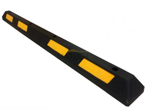 Separator parkingowy gumowy - 1820 czarny żółty odblask