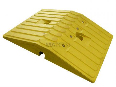Gumowy próg podrzutowy 5,5cm - element środkowy żółty