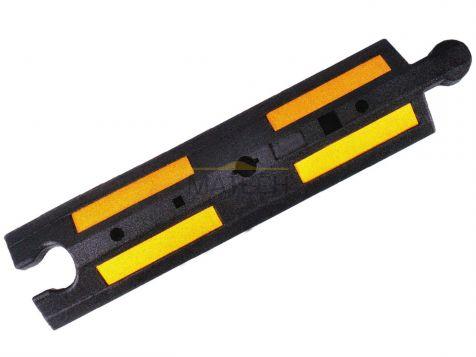 Gumowy separator drogowy - czarny żółty odblask