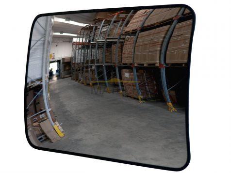Akrylowe lustro sklepowe prostokątne 600x400 (obserwacyjne, magazynowe, antykradzieżowe)