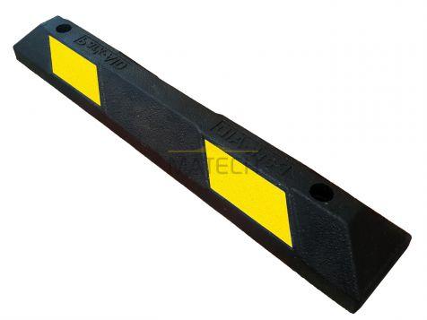 Separator parkingowy gumowy 900x150x100 mm żółty odblask