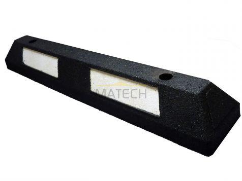 Separator parkingowy MINI guma -  87 cm czarny z białą taśmą odblaskową