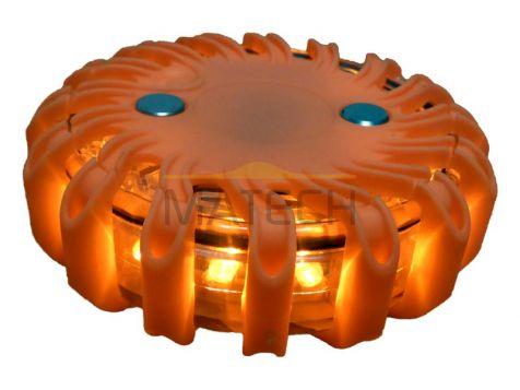Flary ostrzegawcze LED pomarańczowe 1 sztuka. (światła ostrzegawcze LED)
