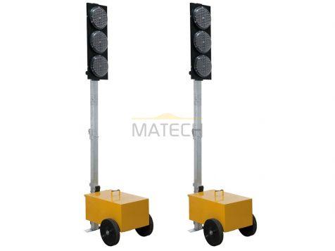 Tymczasowa sygnalizacja świetlna LED (fi 200mm wahadłowa)
