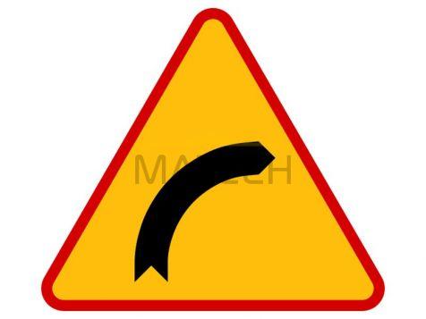 Znak A-1: niebezpieczny zakręt w prawo - I generacja