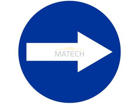 Znak C-1: nakaz jazdy w prawo przed znakiem - I generacja