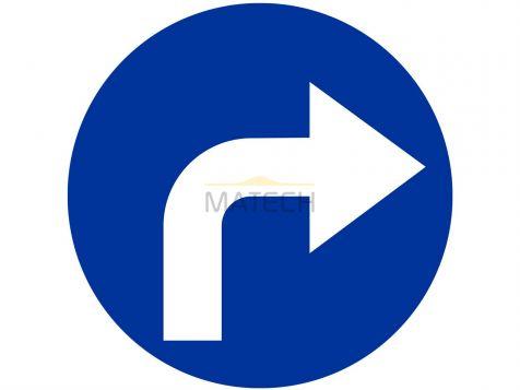 Znak C-2: nakaz jazdy w prawo za znakiem - I generacja