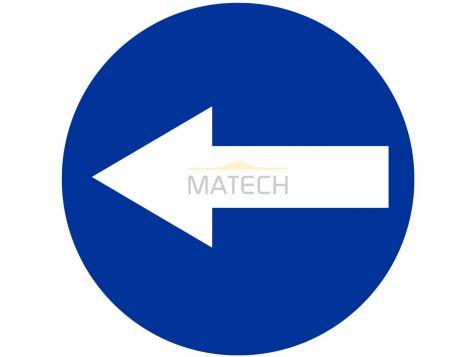 Znak C-3: nakaz jazdy w lewo przed znakiem - I generacja