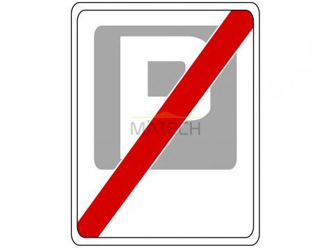 Znak D-45: koniec strefy płatnego parkowania - I generacja