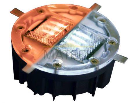 Aktywne solarne elementy odblaskowe LED - dwustronne biały/czerwony