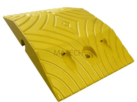 Gumowy próg podrzutowy 5cm - element środkowy żółty