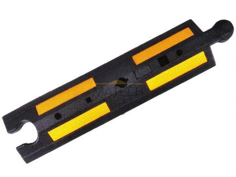 Gumowy separator drogowy - czarny z żółtymi odblaskami