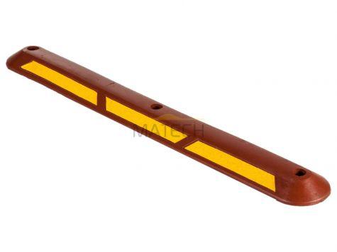 Gumowy separator rowerowy - 100 cm czerwony