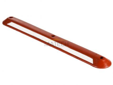 Hol Separator (ogranicznik skrajni) - czerwony 120 cm biały odblask
