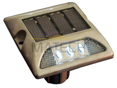 Punktowe aktywne elementy odblaskowe LED na trzpieniu - dwustronne czerwony/biały (najezdniowe PEO solarne)