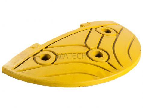 Zakończenie progu zwalniającego żółte