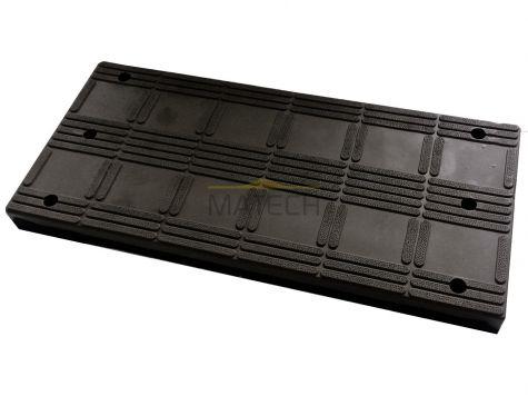 Próg modułowy (segmentowy) element środkowy czarny - model 8 cm