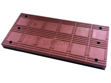 Próg modułowy (segmentowy) element środkowy czerwony- model 8 cm
