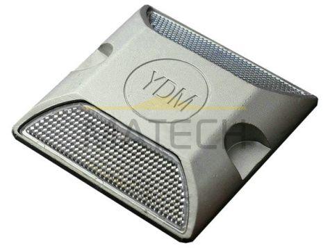 Punktowe najezdniowe elementy odblaskowe na trzpieniu biały/biały (PEO aluminiowe na trzpieniu mocującym)