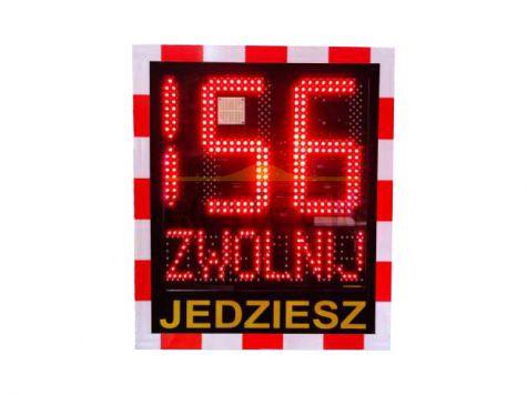 Radar prędkości z czytelnym wyświetlaczem