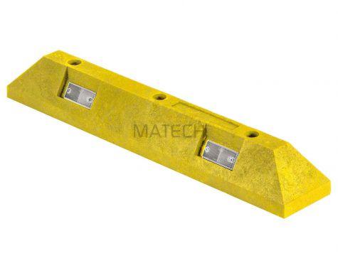 Separator parkingowy PCV S - 80 cm żółty
