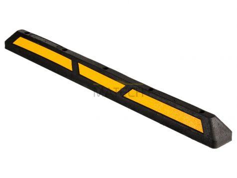 Gumowy separator parkingowy - 1670 mm żółty odblask