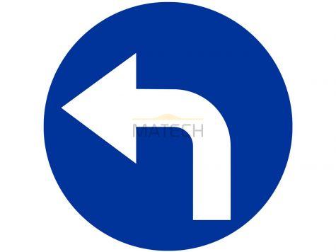 Znak C-4: nakaz jazdy w lewo za znakiem - I generacja