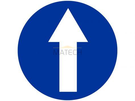 Znak C-5: nakaz jazdy prosto - I generacja
