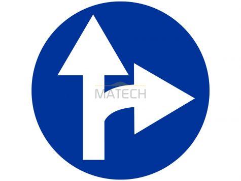 Znak C-6: nakaz jazdy prosto lub w prawo - I generacja