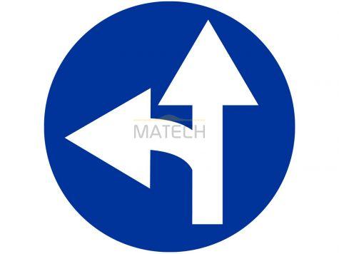 Znak C-7: nakaz jazdy prosto lub w lewo - I generacja