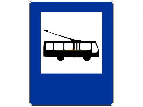 Znak D-16: przystanek trolejbusowy - I generacja