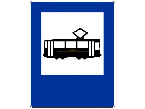 Znak D-17: przystanek tramwajowy - I generacja