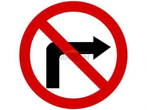 Znak B-22: zakaz skręcania w prawo - I generacja