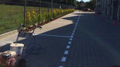 Oznakowanie poziome - wyznaczanie miejsc parkingowych